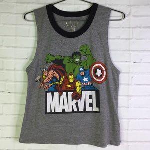 Marvel Comic Avengers Juniors Size M Tank Top Gray